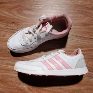 Adidas white/pink size 5 sneakers